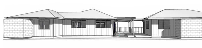 rear view elevation of new kit home for 2020
